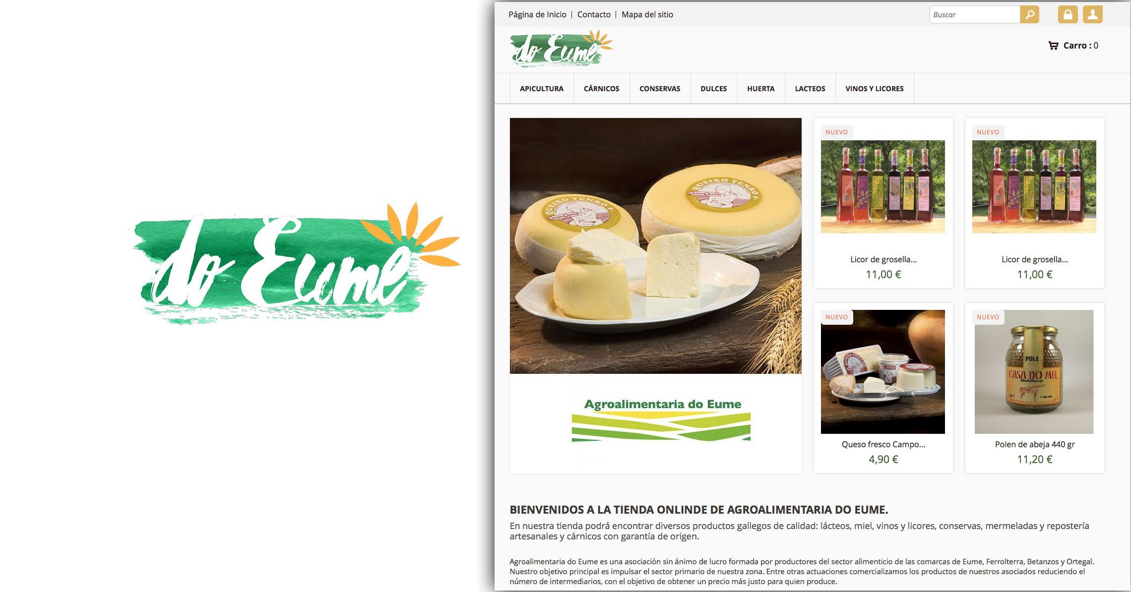 Agroalimentaria do Eume abre a súa nova tenda on-line